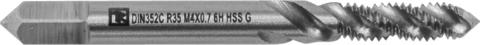 MTG407SF Метчик машинно-ручной T-DRIVE со спиральной канавкой для глухих отверстий с направляющей в наборе М4х0.7, HSS-G