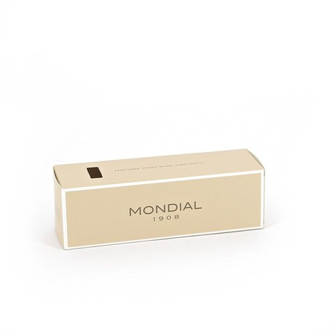 Помазок для бритья Mondial, пластик, свиной ворс, рукоять - цвет темно-коричневый