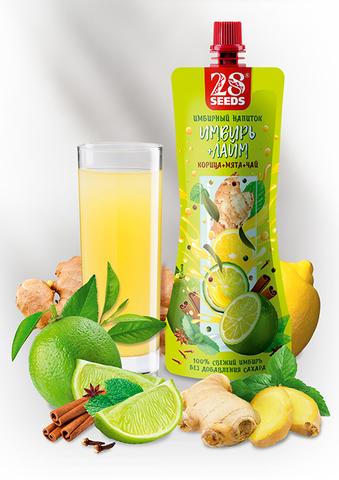 Имбирный напиток «Имбирь + Лайм» без сахара, 250 г