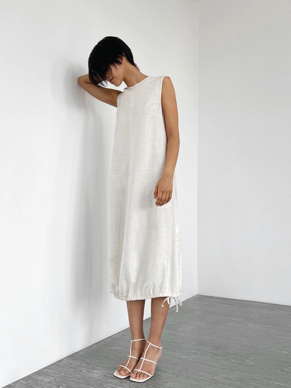 Платье-кокон Aida с завязками по низу