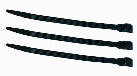 Кабельный хомут с горизонтальным замком (не разъемный) КСГ 6х180 черный (100 шт) TDM