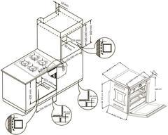 Встраиваемый духовой шкаф Korting OKB 792 CFW схема