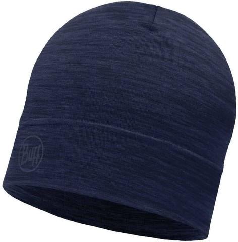 Тонкая шерстяная шапка Buff Solid Denim фото 1