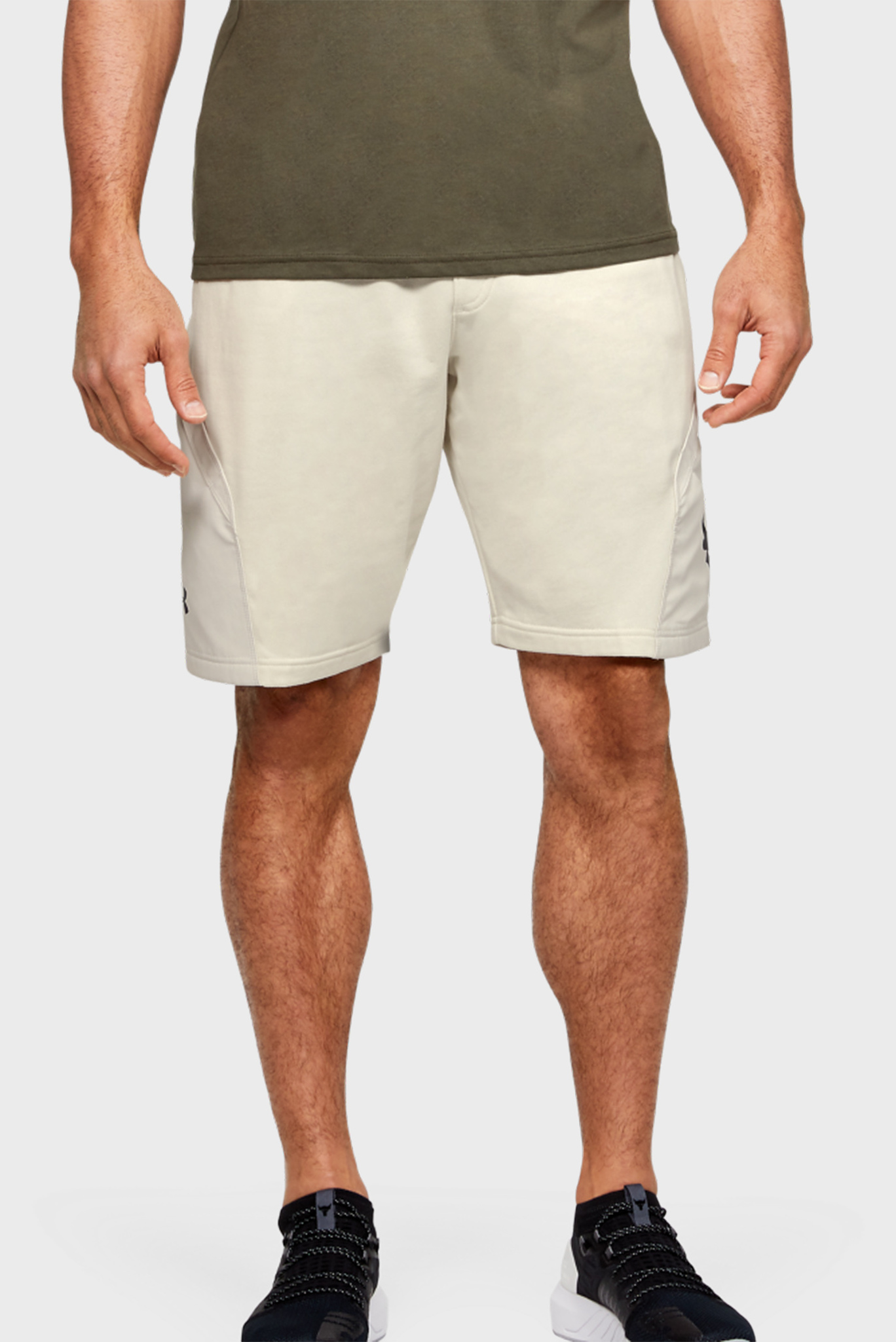 Мужские бежевые шорты Project Rock Terry Under Armour