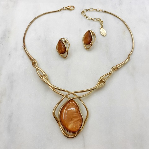 Комплект Арт Плей Мод.13 коричневый золотой (акрил)