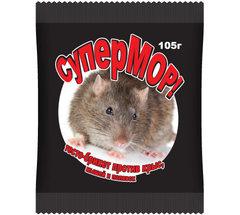 «СуперМОР — тесто-брикет» — средство против мышей, полевок, а также серых крыс (105 гр)