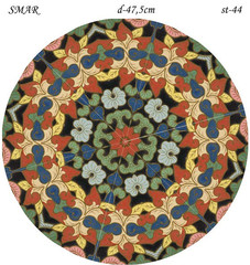 Эскиз для росписи, Круг диаметр-47,5см, SMAR-st-44