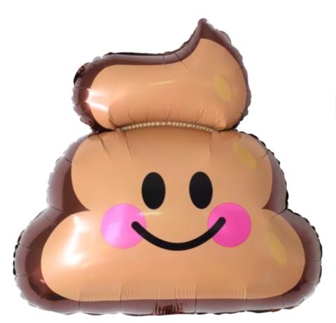 Шар фигура Мороженое шоколадное Эмоджи