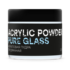 In'Garden, Акриловая пудра PURE GLASS POWDER, 20 гр., прозрачная