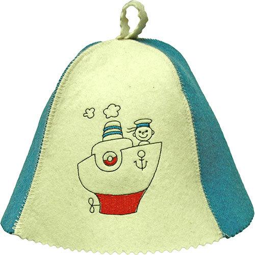 Шапка для бани и сауны Морячок детская