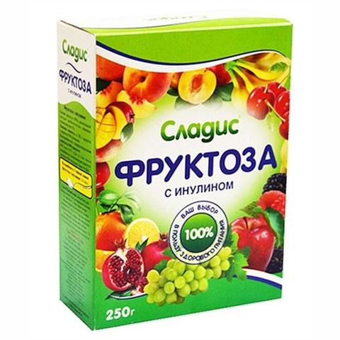 Фруктоза СЛАДИС Кристаллическая с инулином 250 гр Арком РОССИЯ
