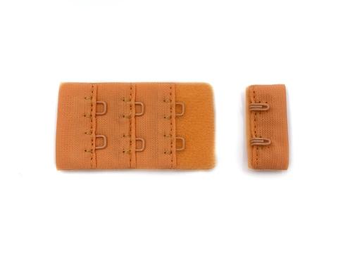 Застежка с крючками оранжевая 2 ряда