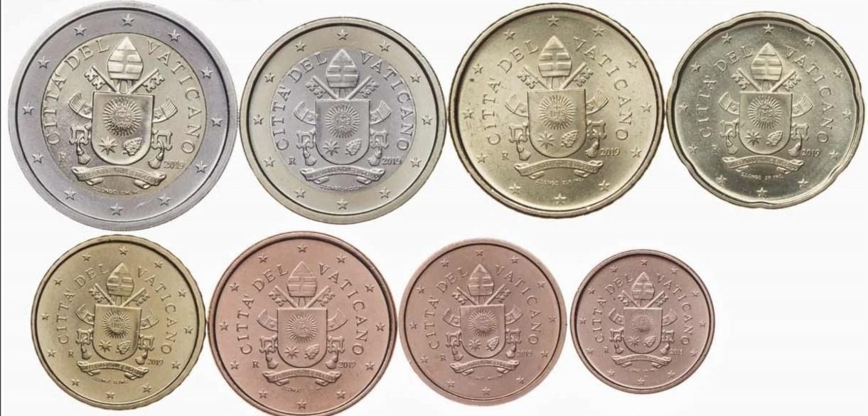 Набор Ватикана 8 монет Евро и евроцентов