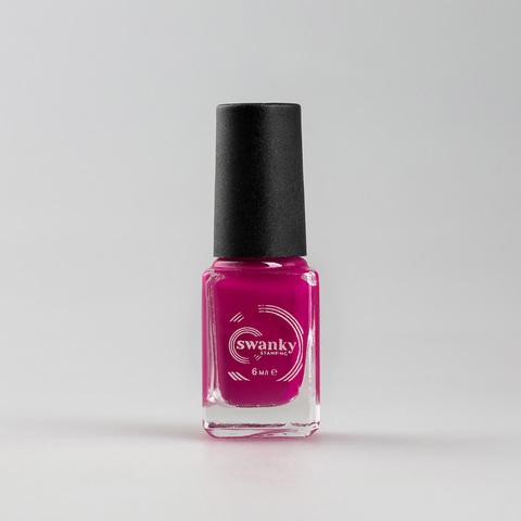 Лак для стемпинга Swanky Stamping S05, розовый, 6 мл.
