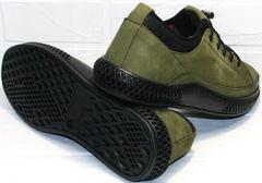 Удобные мужские туфли кеды с толстой подошвой Luciano Bellini C2801 Nb Khaki.