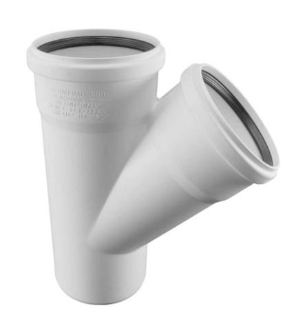 Rehau Raupiano Plus 110/110/45° тройник для канализационных труб (11229841001)