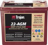 Тяговый аккумулятор Trojan 22-AGM ( 12V 50Ah / 12В 50Ач ) - фотография