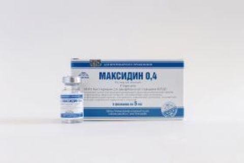 Максидин 0,4 (раствор для инъекций) 5мл, 5 флаконов