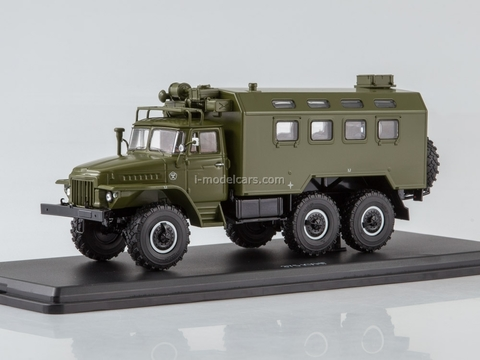 Ural-375 K-375 KUNG (vehicle module system) khaki 1:43 Start Scale Models (SSM)