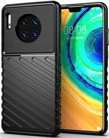 Чехол для Huawei Mate 30 цвет Black (черный), серия Onyx от Caseport