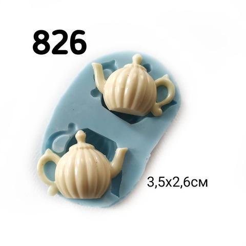 0826 Молд силиконовый. Чайники.