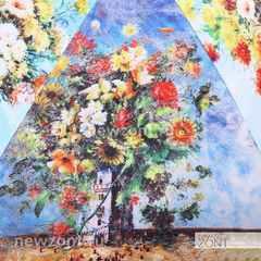 Зонт Ламберти с картиной художника Никаса Сафронова «Салют эмоций»