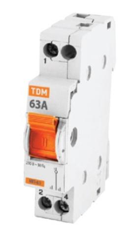 Модульный переключатель трехпозиционный МП-63 1P 16А TDM