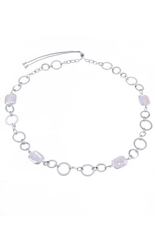 Ожерелье Aurora Metallo Tondo серебристое