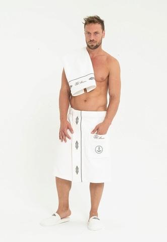 MARINE кремовый набор мужской для сауны TIVOLYO HOME Турция