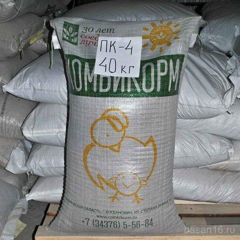 Комбикорм ПК4 для молодняка кур-несушек, Богдановичский комбикормовый завод
