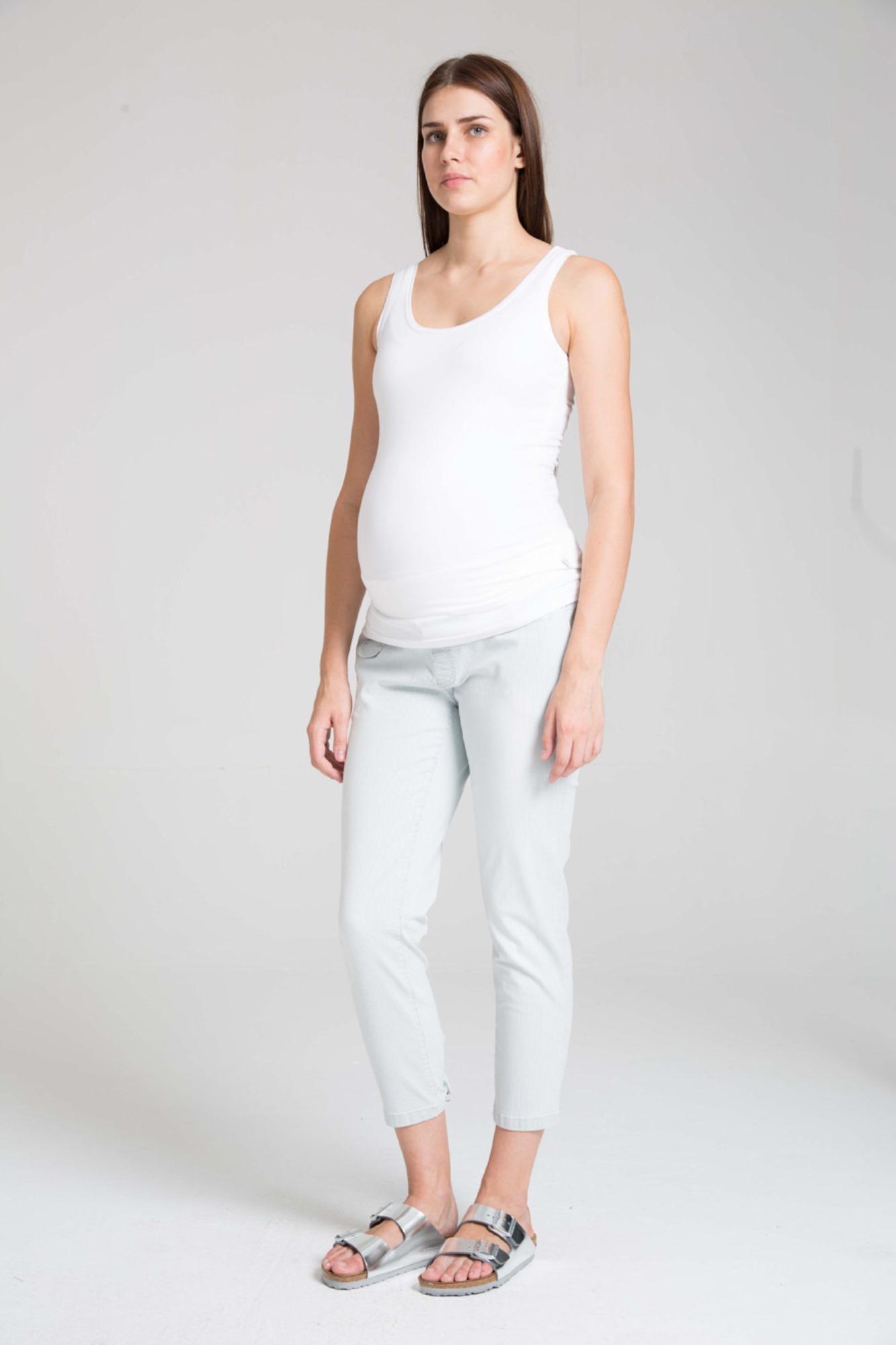 Брюки для беременных 07621 синий-белый