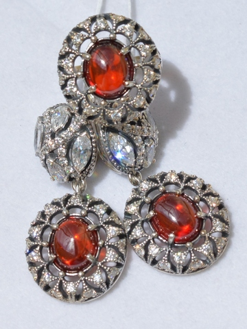 Бхарат (кольцо + серьги из серебра)