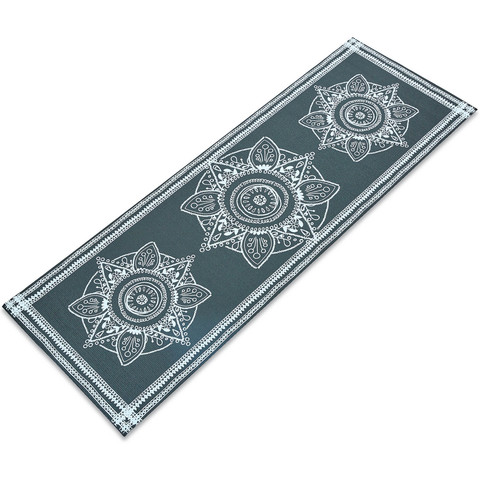 Коврик для йоги и фитнеса PVC двухслойный 4мм цвета в ассортименте