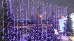Занавес светодиодный уличный 3*2м 1200LED фиолетовый