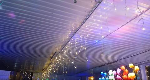 Бахрома светодиодная уличная 15м*0,7м теплый белый
