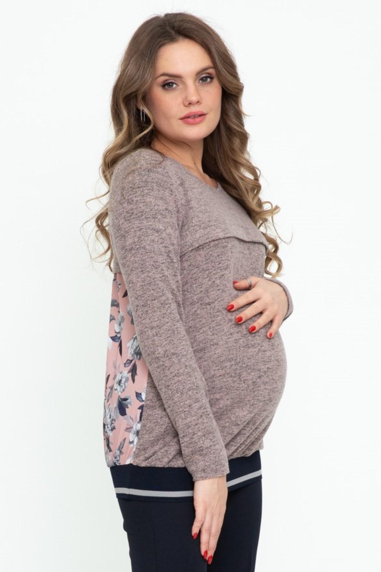 Джемпер для беременных и кормящих 08962 розовый