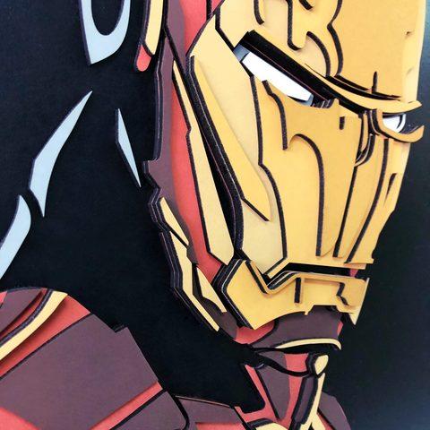 Железный человек от SamCraft - сборные объемные картины из дерева своими руками