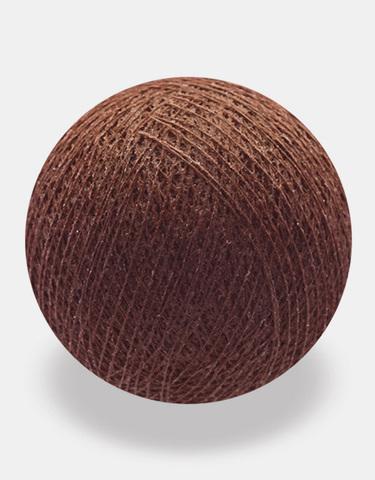 Хлопковый шарик шоколад