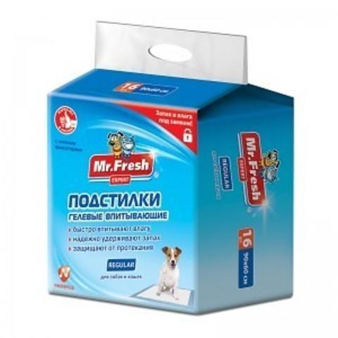 Пеленка Мр.Фреш Regular впит. 90*60 для ежедн. применения 16 шт.