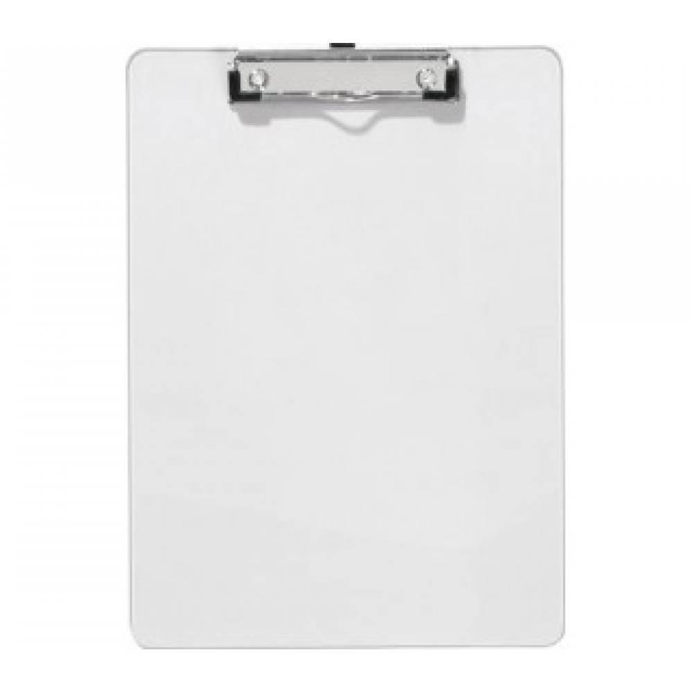 белый планшет из кожи с зажимом