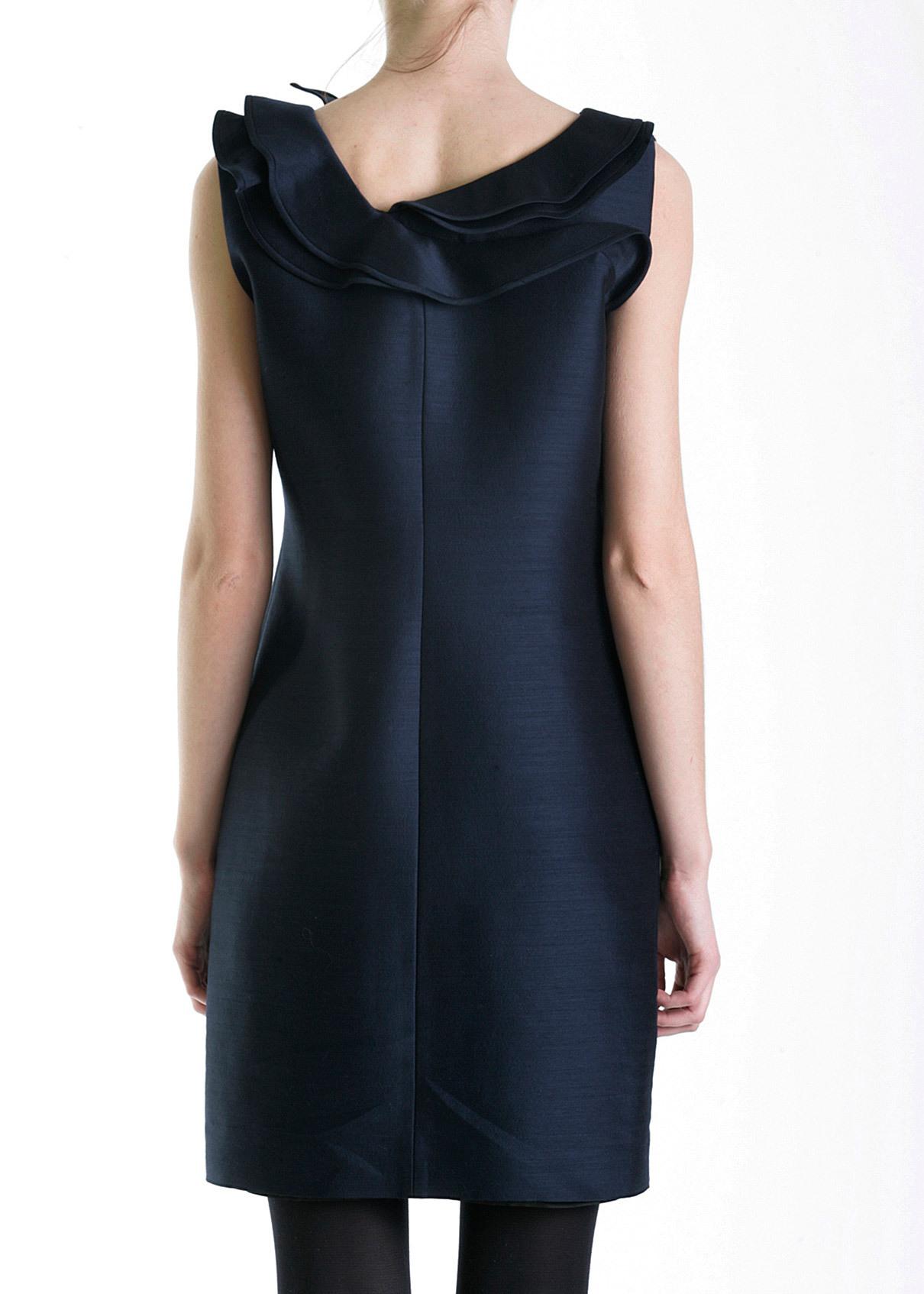 Платье из шерсти и шелка VALENTINO ROMA