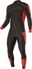 Раздельный комбинезон Noname XC Racing suit, черный-красный