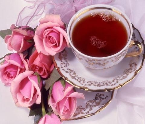 Алмазная Мозаика 40x50 Чашка чая и розы (арт. 2PAV736)