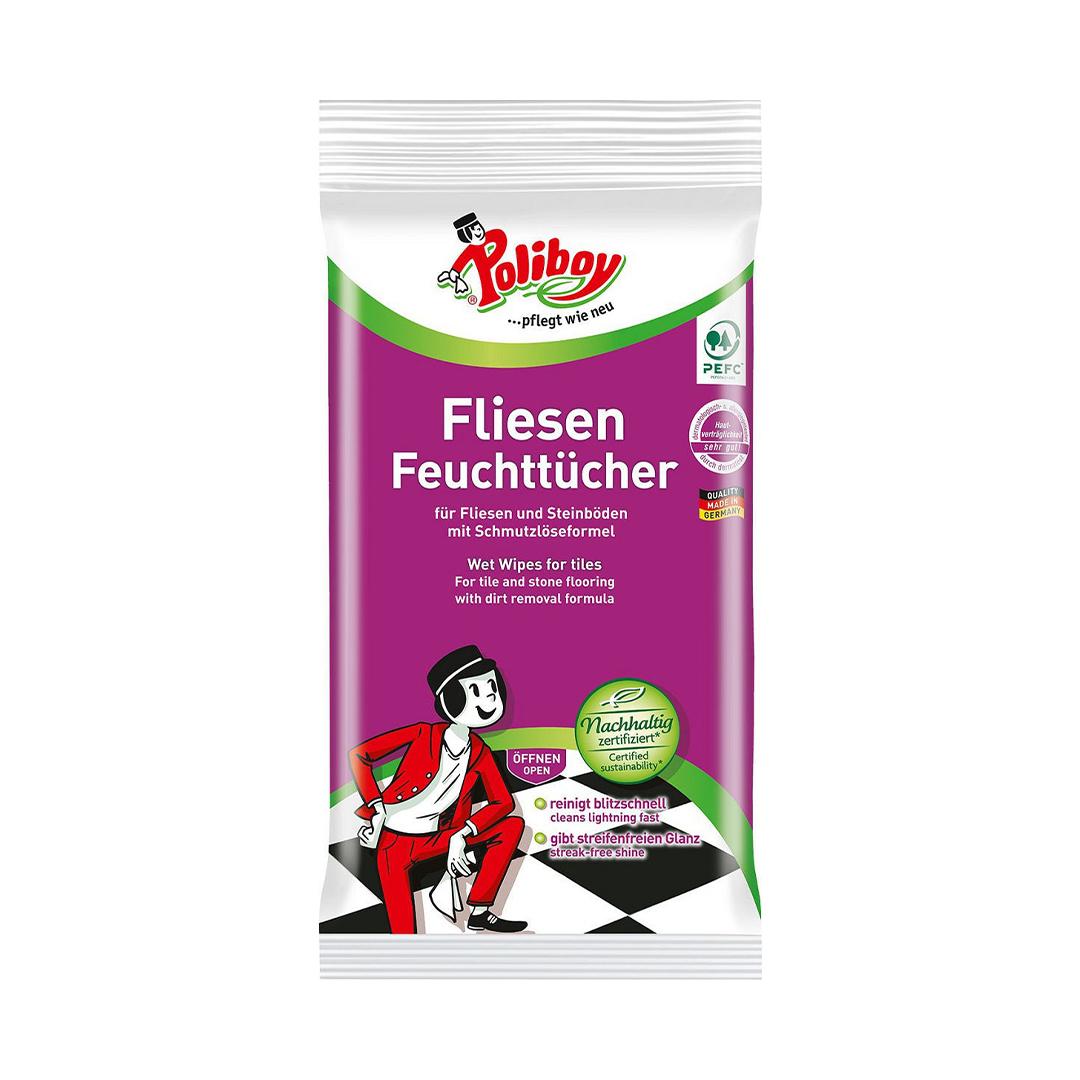 Poliboy/Германия Влажные салфетки для керамической плитки 1упх15шт