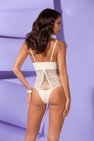 Боди Bianca из эластичной ткани и гипюра
