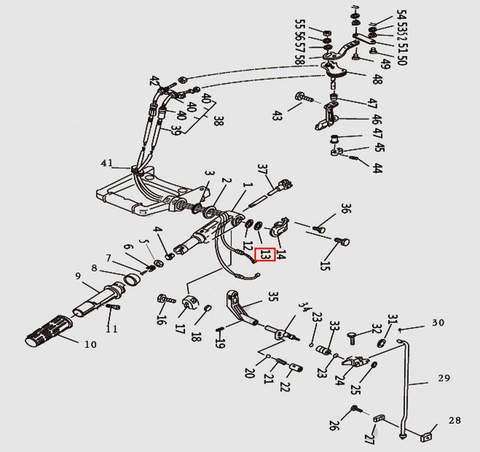 Шайба румпеля для лодочного мотора T9.8 Sea-PRO (10-13)