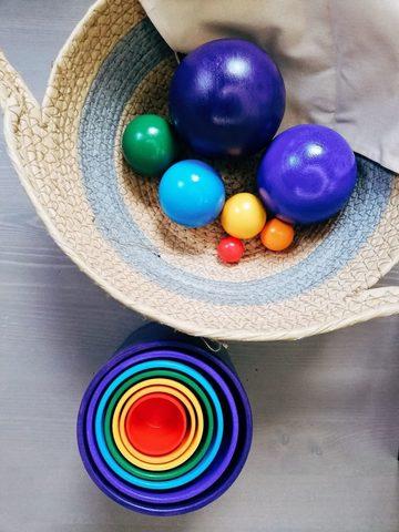 Стаканы радужные 7 в 1, шары радужные 7 размеров, Обратная радуга