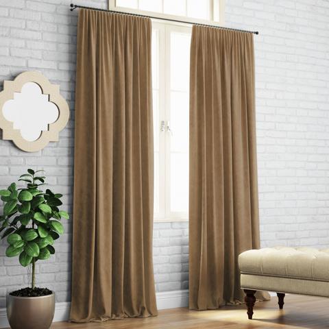 Комплект штор с подхватами Кира коричневый