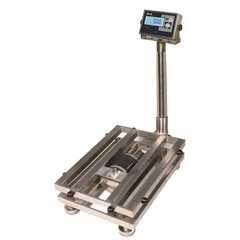 Весы товарные напольные MAS ProMAS PM1HWS-150 4050, RS232 (опция), 150кг, 20/50гр, 400*500, защита IP65, нержавеющая сталь AISI 304, с поверкой, съемная стойка