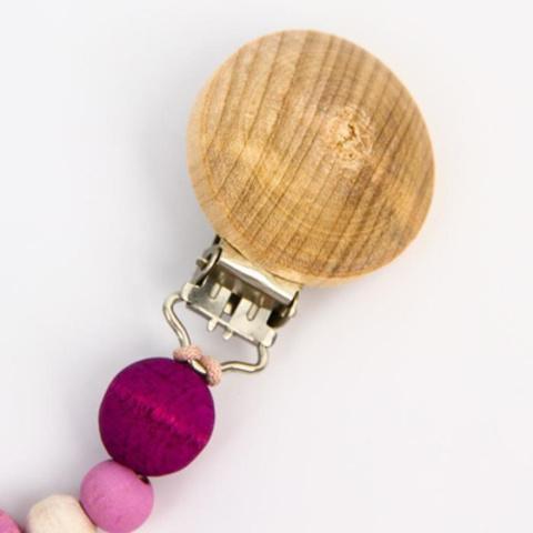 Прищепка-держатель для соски из дерева